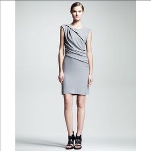 Helmut Lang Flash Drape Twist Dress Silica Ruching